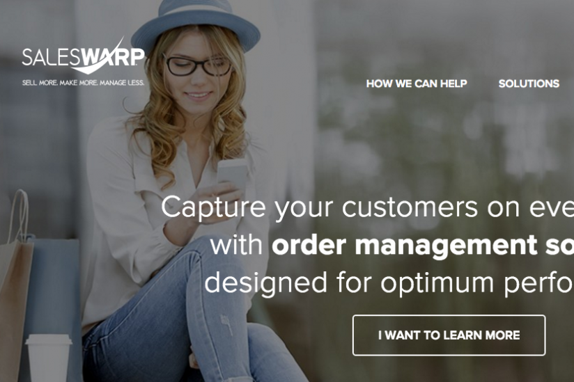 SalesWarp homepage screenshot